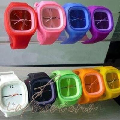 3651e67edbae La Bisutería   Lote de 10 relojes de Silicona de colores 6€ u ...