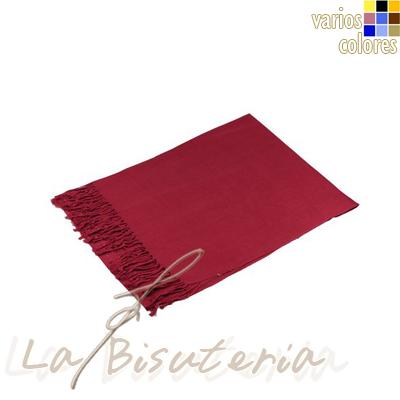 La bisuter a foular pashmina premium color carmesi for Proveedores de material para bisuteria