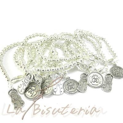 a335cc74d1ee La Bisutería * Lote de 10 Pulseras Virgencita plis y angelito porfis ...