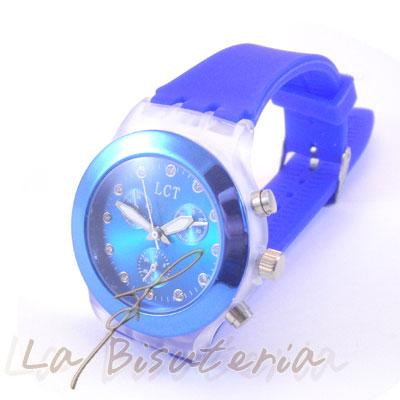 Relojes neon color azul