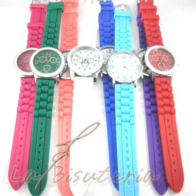 bc68a6cea1ea La Bisutería   Lote de relojes de silicona de colores - 90994 55 ...