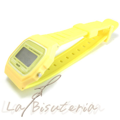 Reloj F-91W. Color Amarillo