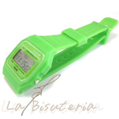 2704c1497cb1 La Bisutería   Comentarios de clientes en Reloj F-91W Color Verde ...