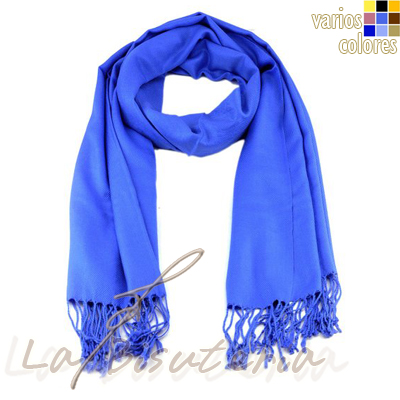 foular pashmina premium color azul royal