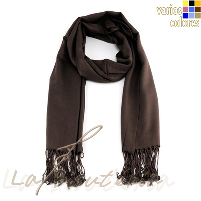 foular pashmina premium color marrón chocolate