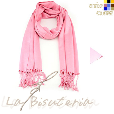 foular pashmina premium color rosa chicle