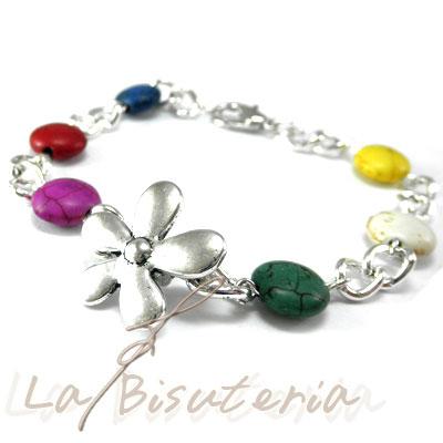 La bisuter a pulsera cadena flor zamak flor zamak 2 for Proveedores de material para bisuteria