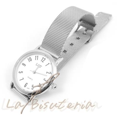 b7b516ec0104 La Bisutería   Comentarios de clientes en Reloj acero Correa malla ...