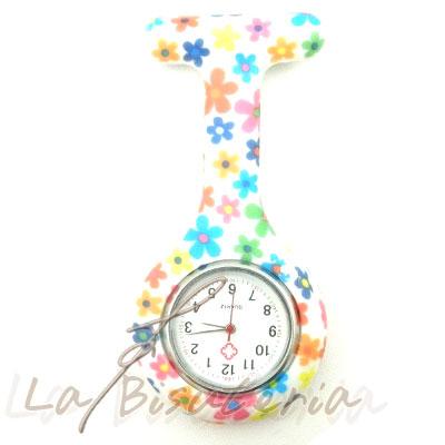 af2ce13b4140 La Bisutería   Reloj de enfermera novedad Flores - Nurse-flores ...